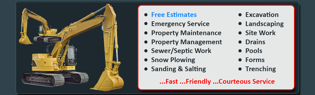 Modern Excavation, Excavation In The Berkshires, Property Maintenance Berkshires, Septic and Sewer Repairs In Pittsfield, MA, Property Management, Excavation Contractors In The Berkshires, Berkshire County